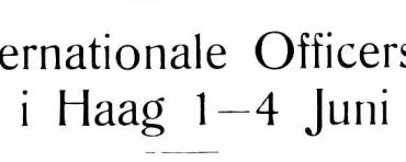 Den internationale Officersfægtestævne i Haag 1—4 Juni 1927