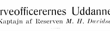 Reserveofficerernes Uddannelse