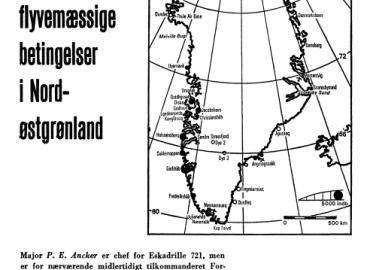 De flyvemæssige betingelser i Nordøstgrønland