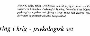 Føring i krig - psykologisk set