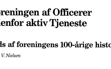 Foreningen af Officerer udenfor aktiv Tjeneste