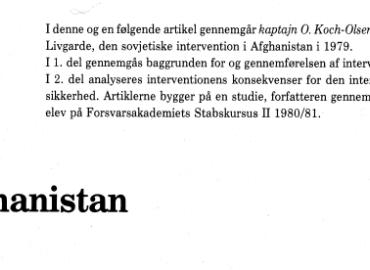 Afghanistan - 1. del