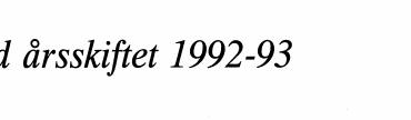 Ved årsskiftet 1992-93