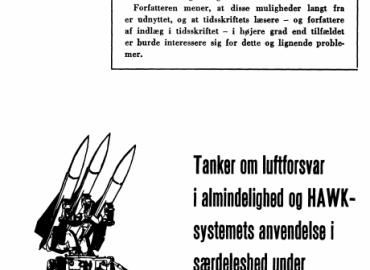 Tanker om luftforsvar i almindelighed og HAWK-systemets anvendelse i særdeleshed under spændingsperioder og krig