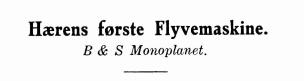 Hærens første Flyvemaskine