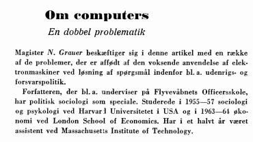 Om computers - En dobbel problematik