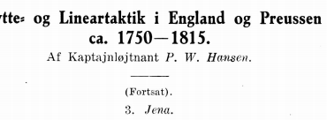 Skytte- og Lineartaktik i England og Preussen ca. 1750-1815 III