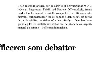 Officeren som debattør