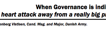 """When Governance is individuals: """"..one heart attack away from a really big problem"""""""
