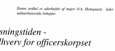 Oplysningstiden - et solhverv for officerskorpset