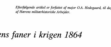 Hærens faner i krigen 1864
