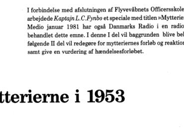 Mytterierne i 1953 - Del 1