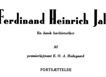 Ferdinand Heinrich Jahn (fortsættelse)